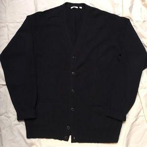 Uniqlo 100% wool cardigan. Navy mens large